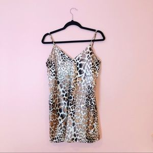 Revolve Leopard Print Slip Dress